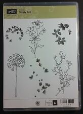 Stampin' Up! SIMPLY SOFT Flowers Silhouette Watercolor Retired RARE