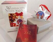 "NEW 2002 Hutschenreuther Porcelain Christmas STAR ""The Gospel"" ""Ole Winther"" NIB"