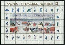 Denmark Christmas Sheet 1991 Local Samso Mnh. Ships,Birds Seal