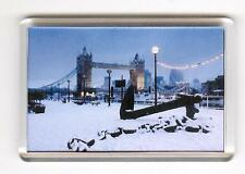 TOWER BRIDGE IN WINTER FRIDGE MAGNET