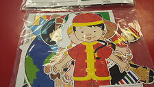 Kids Around the World Cutouts Multicultural Children Continents Flags Geography