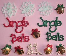JINGLE BELLS - Christmas Snowflakes Dress It Up Craft Buttons & Embellishments