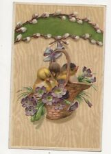 Easter Greetings 1912 Embossed Chromo Litho Postcard 254a