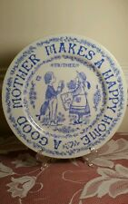 """PERFECT MOTHERS DAY GIFT,  VTG, """"A  GOOD MOTHER MAKES A HAPPY HOME"""" 9"""" Plate,"""