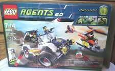 LEGO AGENTS SET #8969 - 4 WHEELING PURSUIT 99% COMPLETE WITH BOX & INSTRUCTIONS
