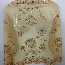 New Sequin Beaded Shawl Flower Wedding Party Gift Evening wrap(USA seller)