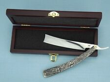 "Stainless Steel Barber Straight Razor Shaver ""Sweeney Todd""+Gift box+Strop cloth"