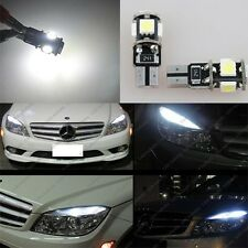 4x Mercedes Benz W204 C300 C350 C63 AMG LED W5W 5-SMD Eyebrow Eyelid Light Bulbs