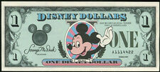 1987  Disney Dollar $1  Triple Double EFO  #A1114422  MINT