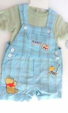 WINNIE THE POOH TWO PIECE CREEPER AND SHORT SET 0-3 MONTHS NWT