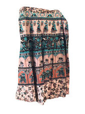 WRAP AROUND SKIRT ETHNIC INDIAN PRINTED COTTON GYPSY HIPPIE LONG WRAP SKIRTS