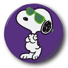 "Snoopy  25mm 1"" Button Badge - Kids Retro Charlie Brown Peanuts Shutter Shades"