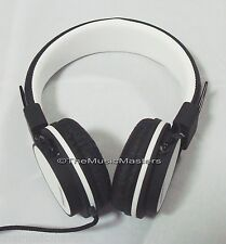 Home Audio Studio Monitor DJ Style HiFi Stereo Headphones HD Sound Quality White