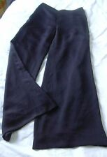 NINA RICCI BLACK WIDE LEG LIGHT WEIGHT SILK TROUSERS PANTS UK 10 US 6