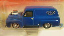 2002 Johnny Lightning Woodys & Panels 1955 FORD PANEL DELIVERY blue w/Ford logo