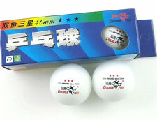 5 Boxes(15 Pcs) Double Fish 3* 40MM Olympic Table Tennis White Ping Pong Balls