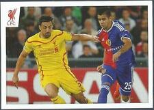 PANINI LIVERPOOL STICKER-2014/15- #020-JOSE ENRIQUE IN ACTION IN EUROPE