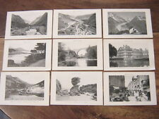 LOT 9 CARTES POSTALES DETACHABLES AGENDA P.L.M. 1922