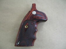 Smith & Wesson K/L Frame Square Butt Rosewood Checkered Grips With Medallion USA