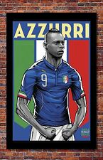 FIFA World Cup Soccer Event Brazil | TEAM ITALY Poster | 13 x 19 Inches