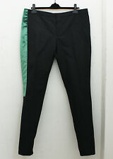 NEW Lanvin Black Trousers with Green Trim GENUINE RRP: £500 - Size: 52