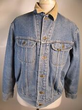 VTG Men's Lee Denim Jean Button Blanket Lined Trucker Jacket Size L 11709