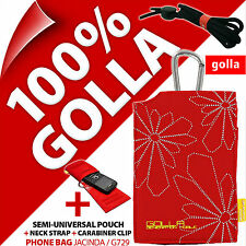 New Golla Red Phone Case Bag For iPhone 4S 5S 5C SE Samsung Galaxy S2, S4 Mini