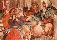 """Alte Kunstpostkarte - G. Ferrari - Jesus parmi les Docteurs"""" (détail)"""