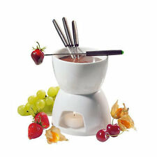 Ceramic Chocolate Fondue Set w/ Fondue Pot & Fondue Dippers