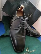 MARIANO CAMPANILE -ITALY FAB ELEGANT HANDMADE BLACK OXFORD SHOES UK 8 EU 42 US 9