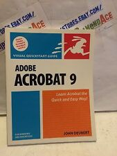 ADOBE ACROBAT 9 FOR WINDOWS AND MACINTOSH paperback book used