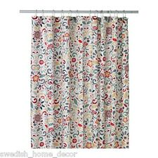 Ikea ÅKERKULLA Shower Curtain floral Bathroom bath tub AKERKULLA