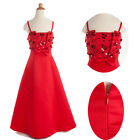 Red New Flower Girl Party Bridesmaid Wedding Dance Pageant Dress 2 to 12 Yrs