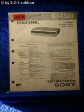 Sony Service Manual ICF C560 2 Band Kitchen Radio (#3209)
