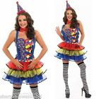 Ladies Sexy Clown Circus Carnival Fancy Dress Costume Outfit UK 8-26 Plus Size