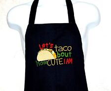 Taco Apron, Cute Funny Adult Apron, Custom Personalized With Name,  AGIFT 686