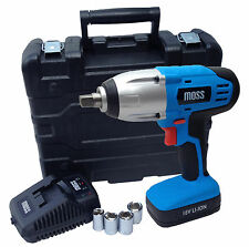 "High Torque 300nm Lithium Li-Ion 18V Cordless Impact Wrench Gun 1/2"" Sq Drive"