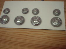 OBSOLETE POLICE BUTTONS, LANCASHIRE CONSTABULARY FULL SET IDEAL FOR FANCY DRESS