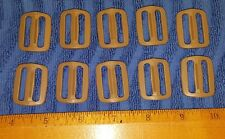 "(Set-10) US Military ITW NEXUS 1"" Coyote Tan TRI-GLIDE  BUCKLES, Packs Pouches"