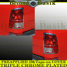 2009-2016 Dodge Ram 1500 Chrome Taillight Tail Light Bezel COVERS Trim Lamp