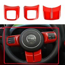 Red Steering Wheel Decorative Cover Sequins Trim For Jeep Wrangler JK 11-15 Part