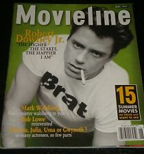 MOVIELINE magazine 1997, Robert Downey Jr., Mark Wahlberg, Rob Lowe, RARE