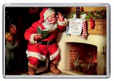 Father Christmas, Santa Claus retro Fridge Magnet 02