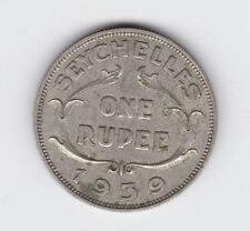 1939 Seychelles One Rupee Silver Coin T-219