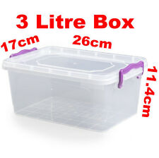3L 3 Litre Clip Handle Plastic Trendy Storage Food Multi Box Container 021100