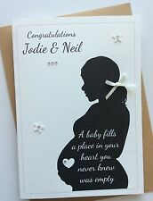 Handmade Personalised Baby Shower/Mum to Be Pregnancy Congratulations Card