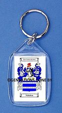 NICHOLSON (ENGLISH) COAT OF ARMS KEY RING