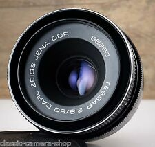 Legendary M42 lens CARL ZEISS JENA TESSAR 2.8/50 Late Black Version 50mm 1:2.8
