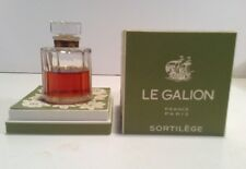 Sortilege Perfume 1 Oz. Le Galion Vtg Green Box 2/3 Full Original Version Vntg