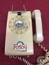 Vintage 60s Bell System Western Electric Pink Rotary Wall Phone Telephone USA GC